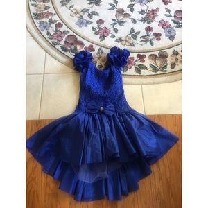 night way floral blue prom evening dress